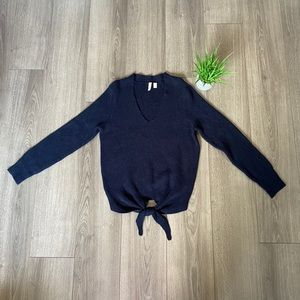 Moth Freeport Ribbed Sweater in Navy Size Medium